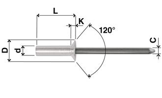 Sealed countersunk head rivets in Aluminium FAR