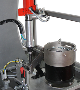 Power supply and installation of blind rivet nuts for robotic systems